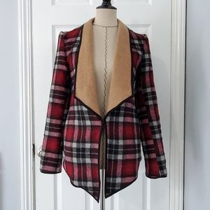Greylin Bayton Red and Black Plaid Coat